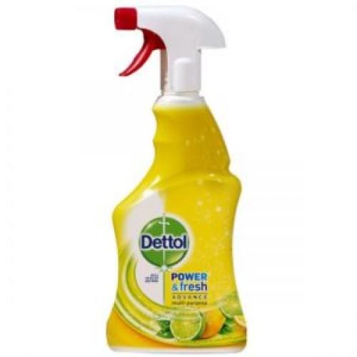 Spray multifunctional Dettol Power & Fresh, Lemon & Lime, 500 ml