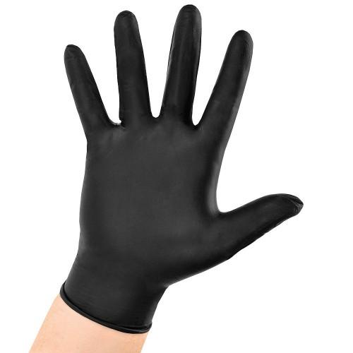 Mănuși nitril negre L,100 bucati