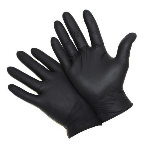 Mănuși nitril negre M,100 bucati