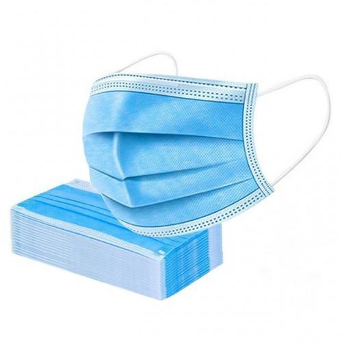 Set 50 bucăti Mască protectie 3 straturi 3 pliuri